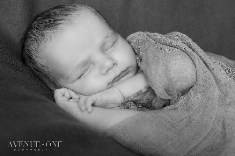Sleeping baby during newborn session