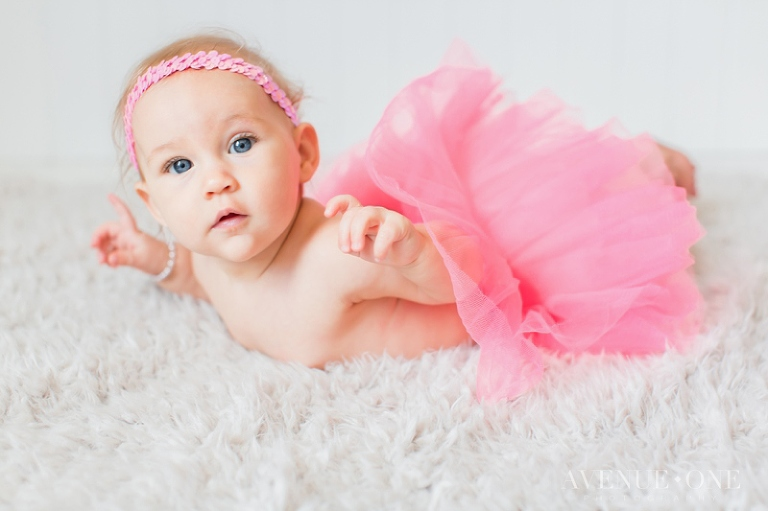 six month baby girl photos with pink tutu