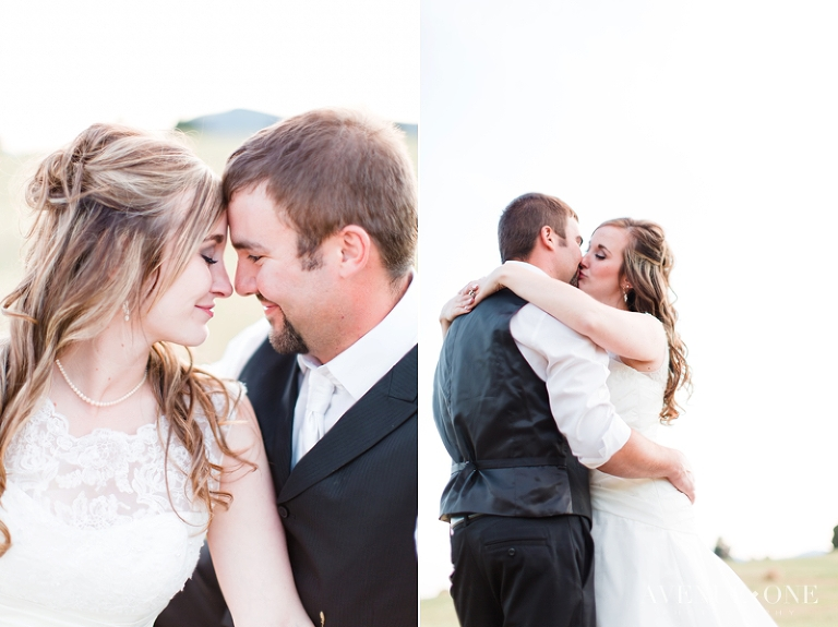 Intimate moments between bride and groom