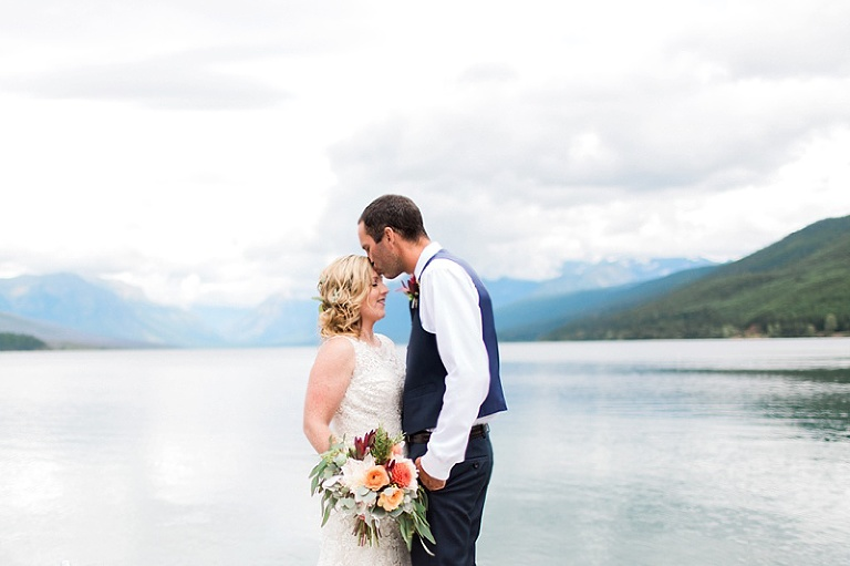 Glacier National Park Wedding Photos Lake Mcdonald